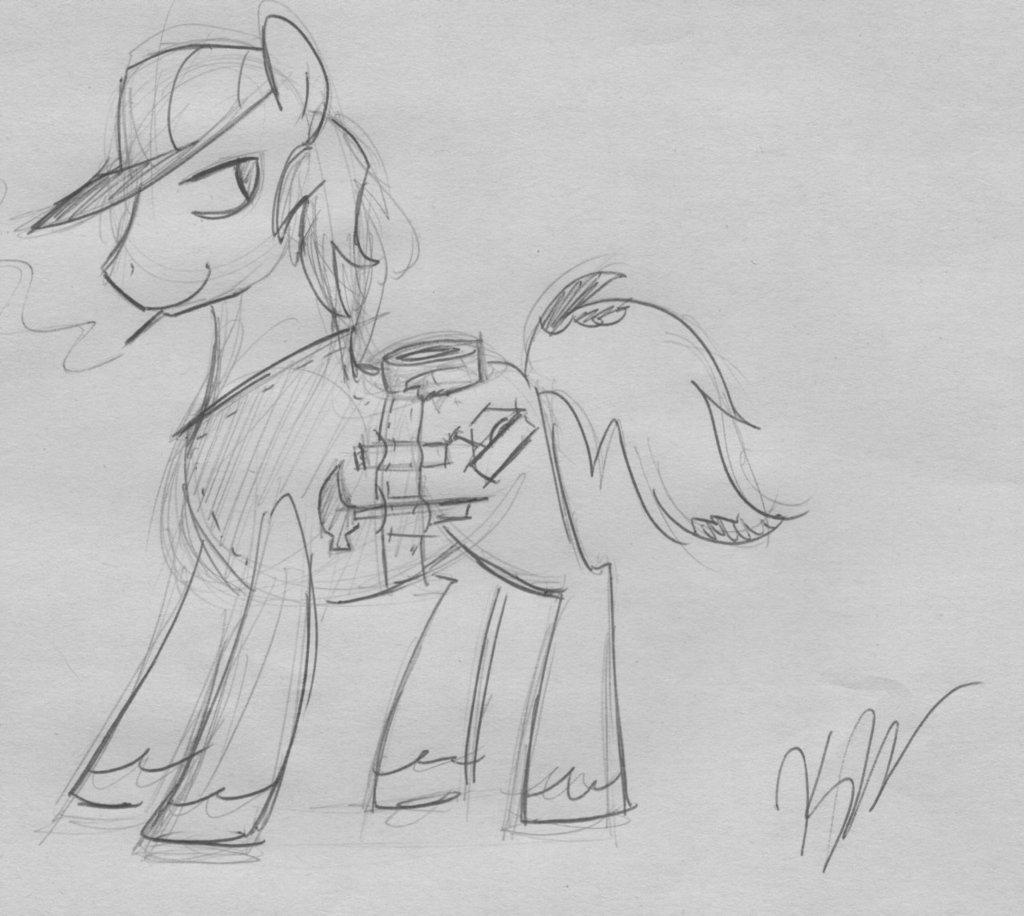 Handy Hooves sketch by egophiliac