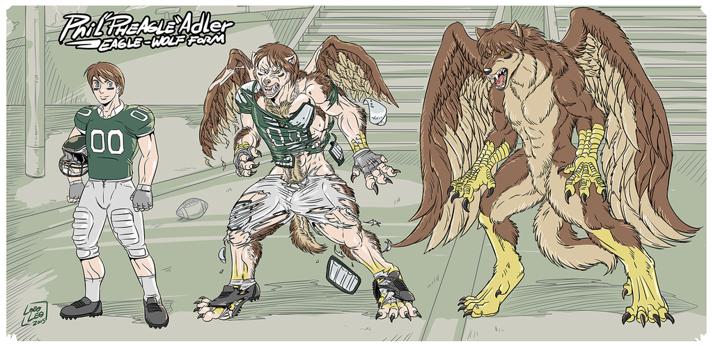 "Phil ""Pheagle"" Adler - Eagle-Wolf Form"