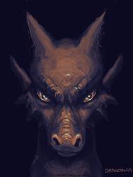 Dragon face inktober 16