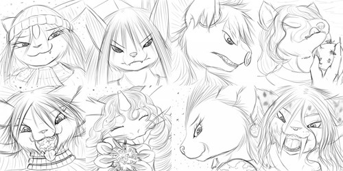 Expression Sketches 65-72