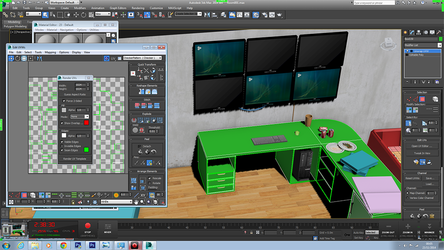 Room (about to texture desk) -