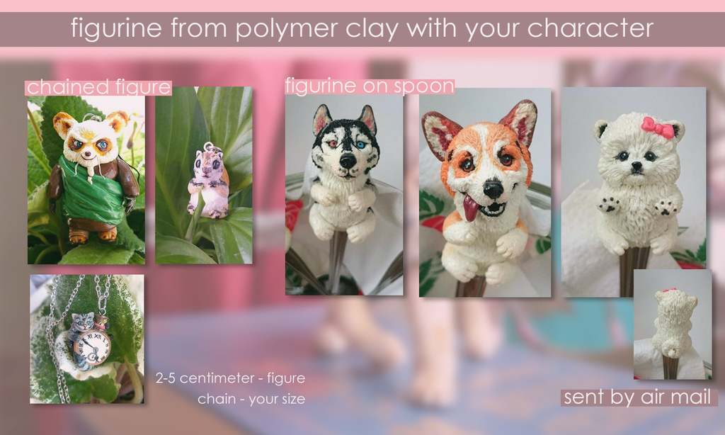 Most recent image: a polymer clay figurine ych