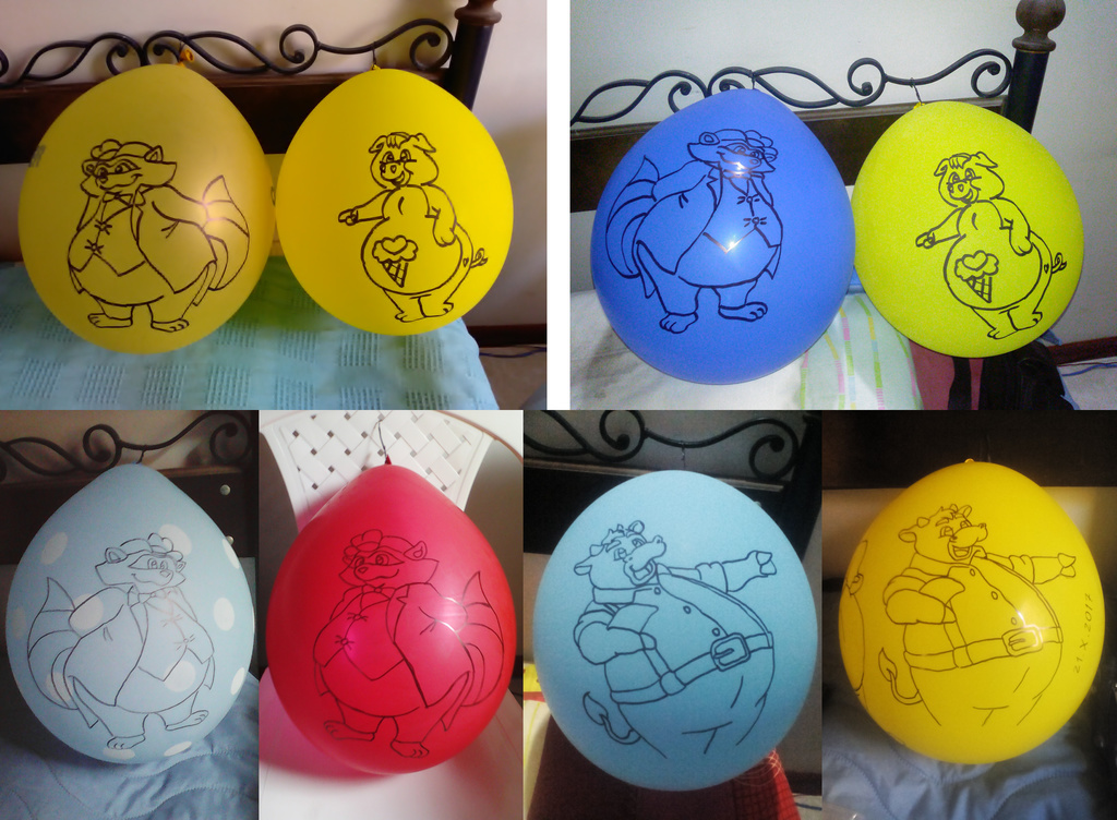 Artwork on 12 inches balloons