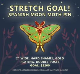 Moth Pin Kickstarter STRETCH GOAL