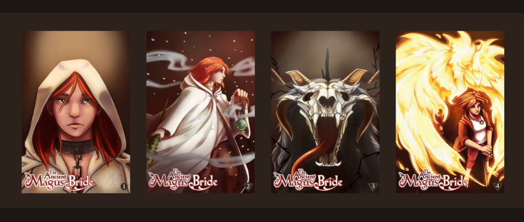 Most recent image: Ancient Magus Bride Book Cover Series