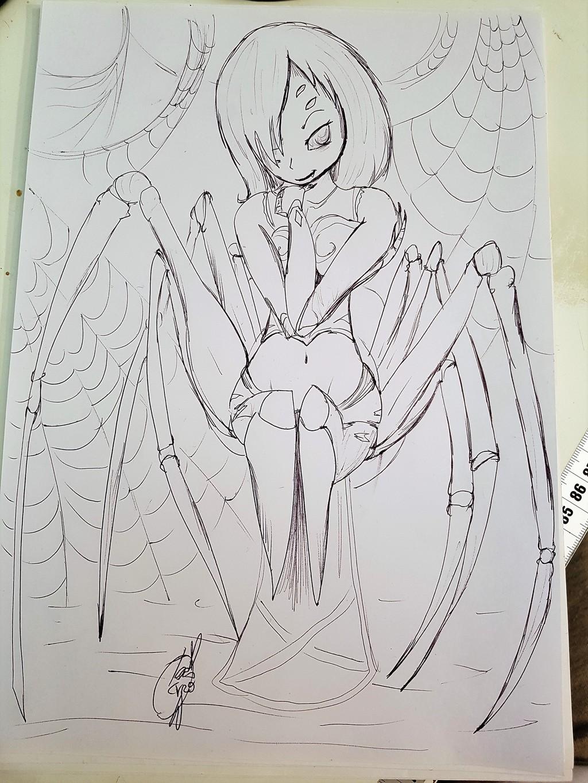 Most recent image: INKTOBER DAY 12 - Spider