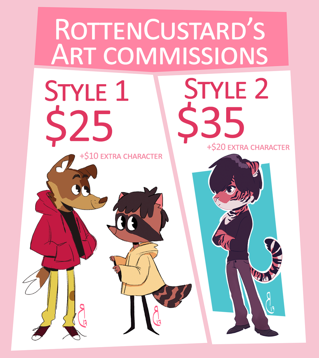 Most recent image: Rotten Custard's Commission Info