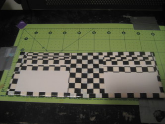 duct tape checkered wallet