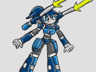 Zarya using her Cannons.