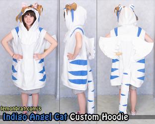 Indigo Angel Cat Custom Hoodie
