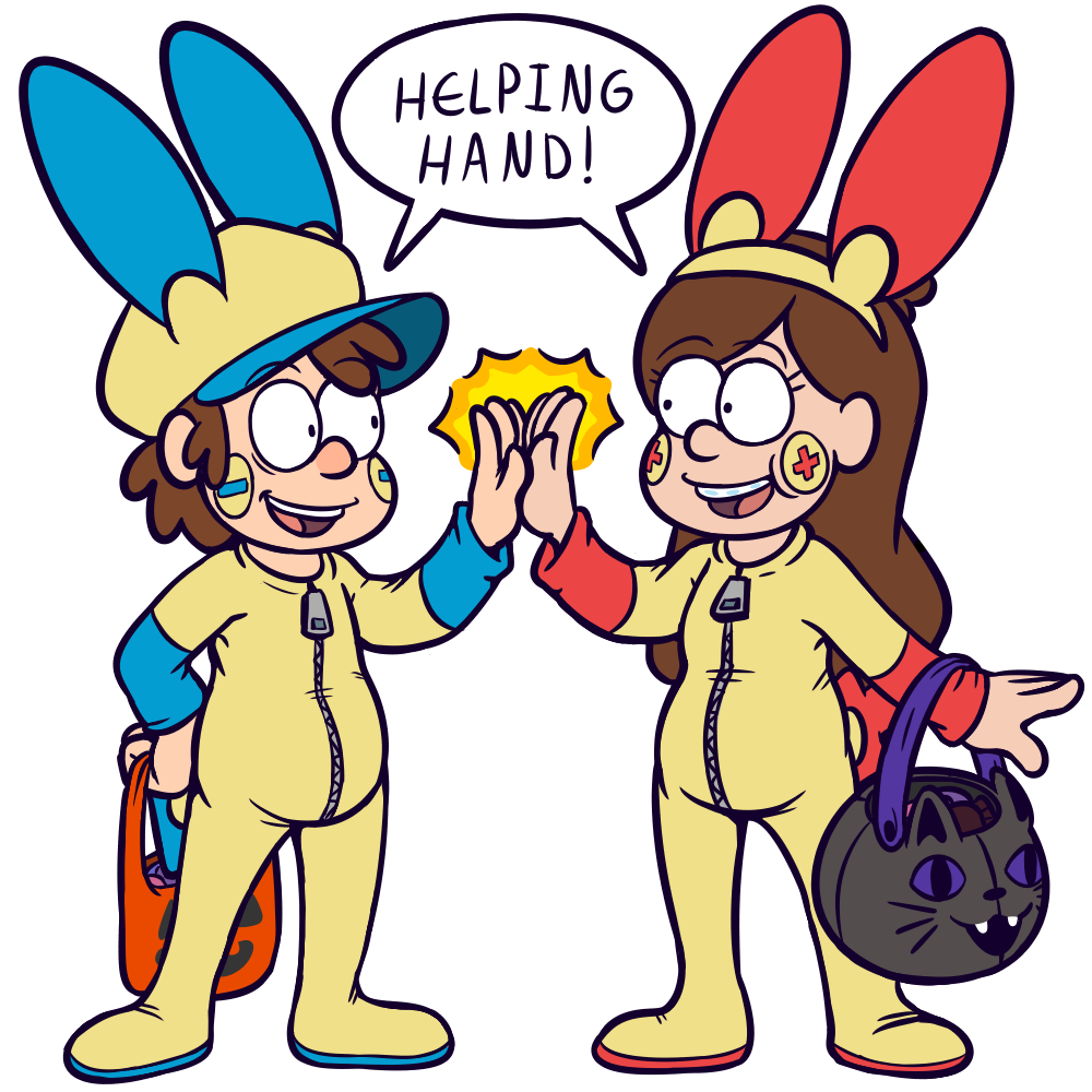 Pines Twins Used Trick-Or-Treat