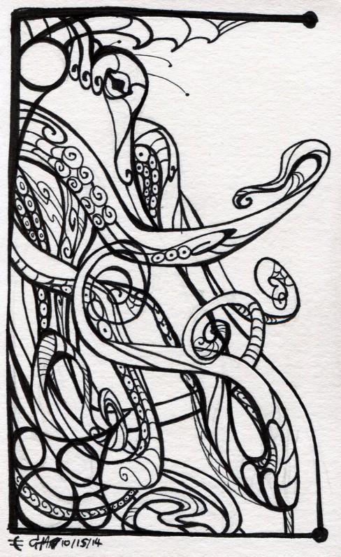 Inktober #15: Octo-filigree