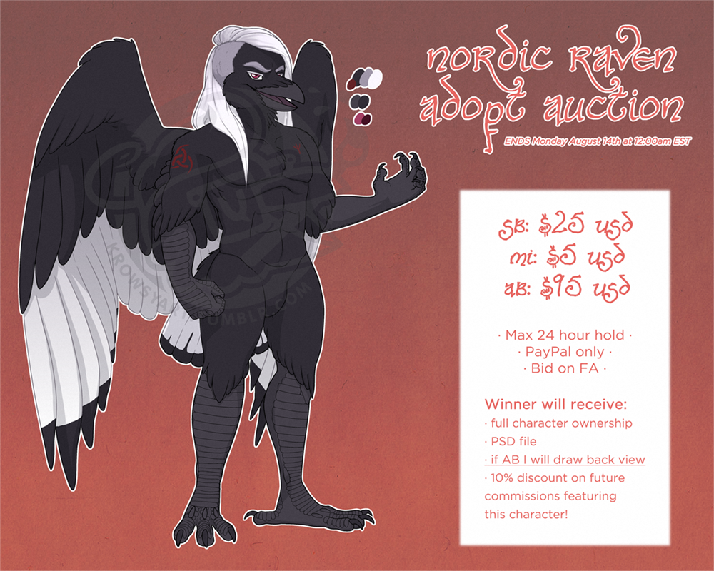 Nordic Raven Adopt Auction - SOLD