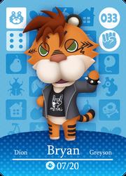 Bryan Animal Crossing Card by Panda