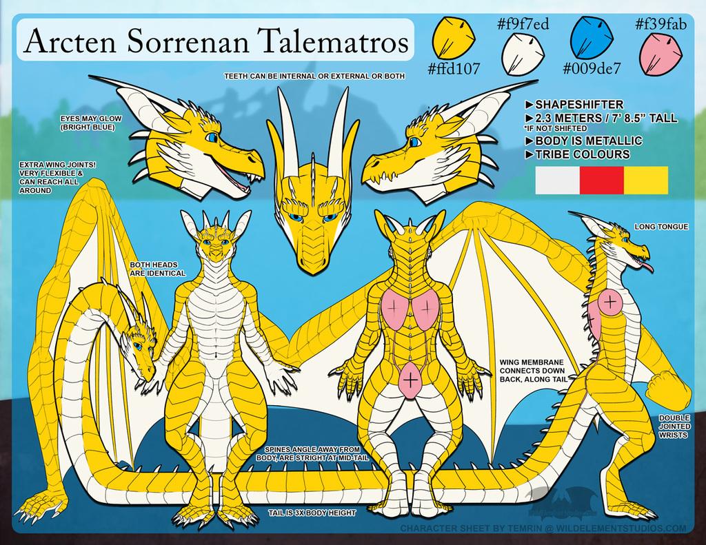 PTR - Arcten Ref Sheet - SFW Male
