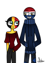 belgium and netherlands -countryhumans