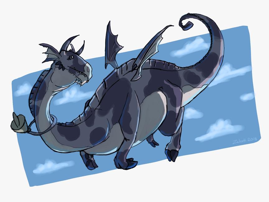 Cow Dragon Sketch