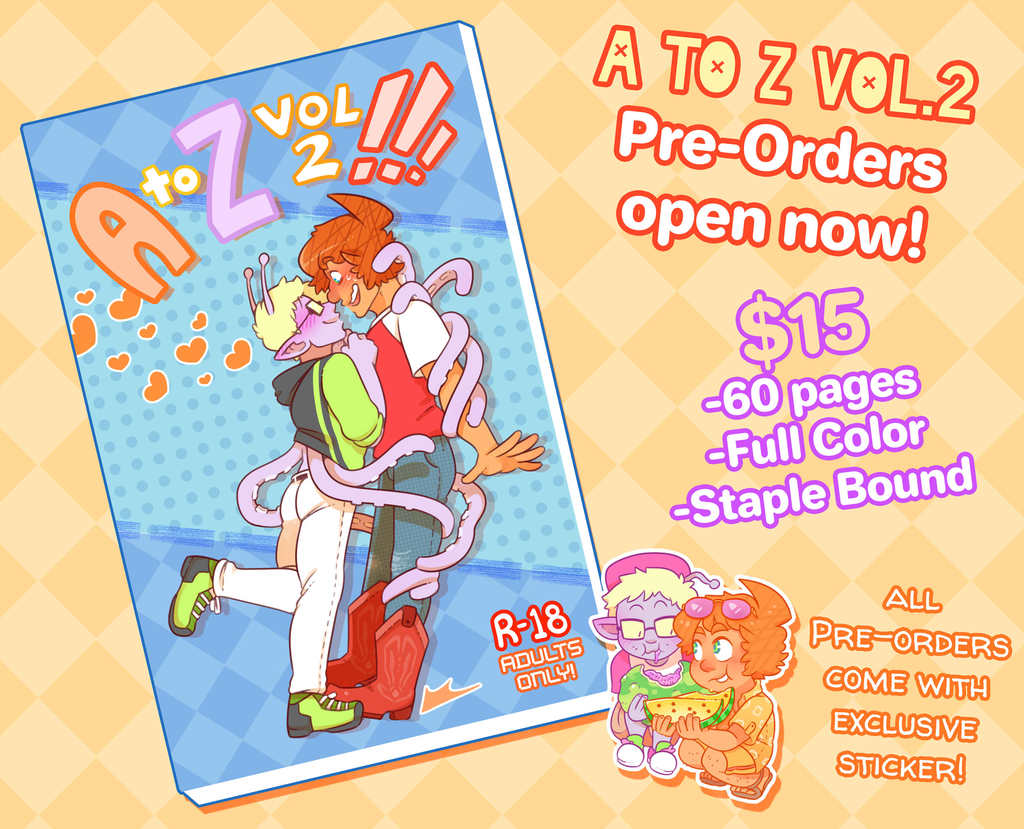 A to Z, Vol.2 is now up for pre-orders!