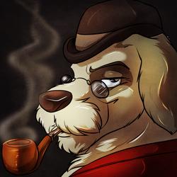 Dapper Pipe Dog by Donryu