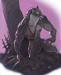 August draw-a-werewolf