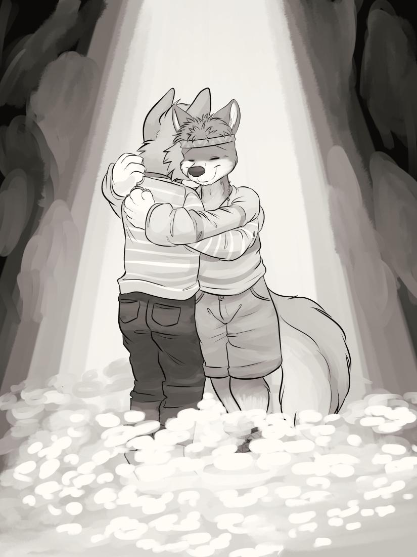 Comfort him