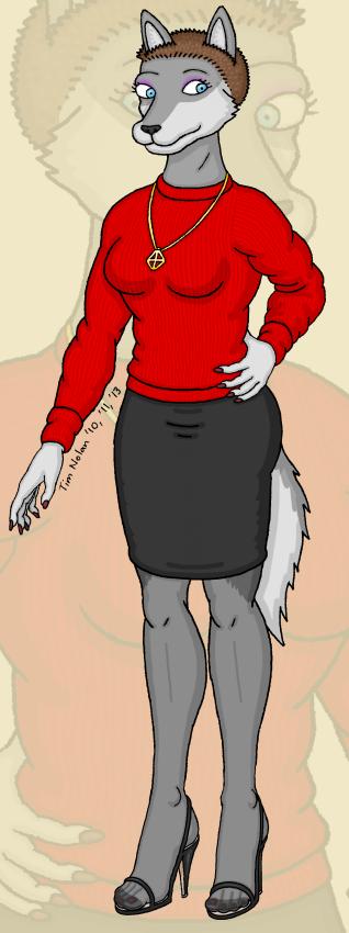 Bobbi Wolf with short hair