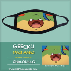 Geecku Face Mask by Chalodillo