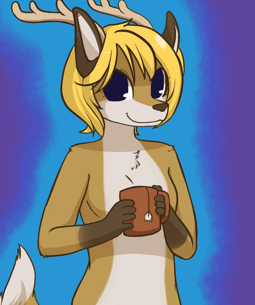 Chibi Tea Drinker