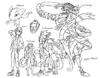 Digimon - Owen and Trekamon
