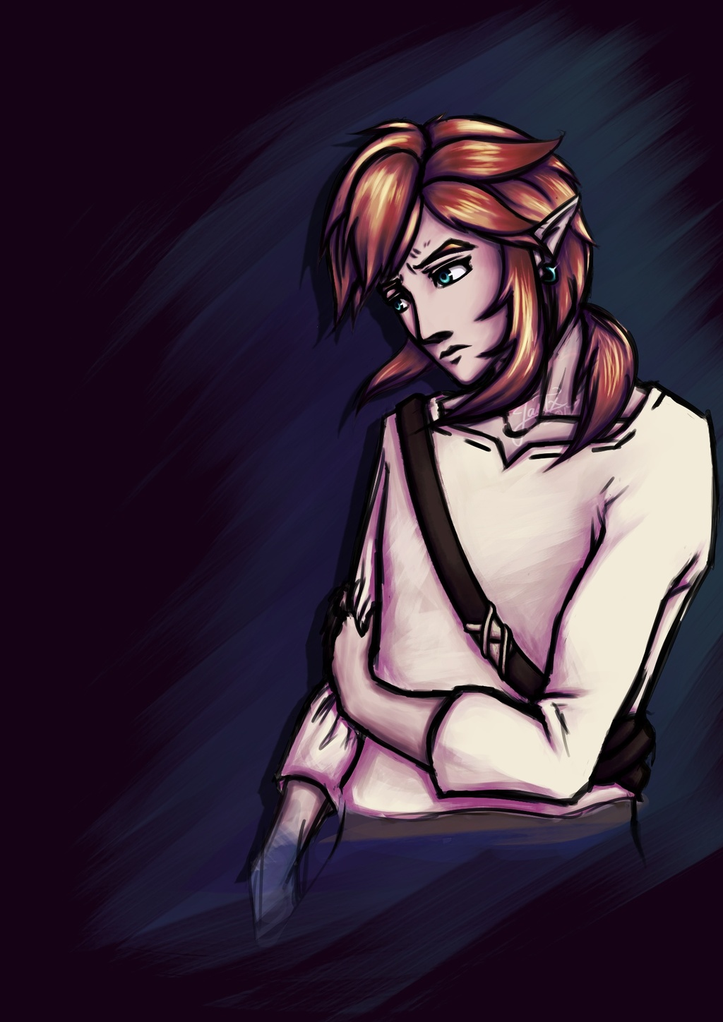 Sad Lonk (non-transparent version)