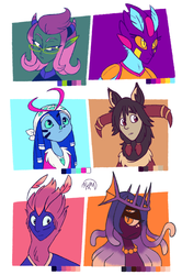 Character Doodles - Swapped Palettes