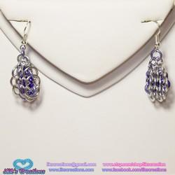 Slender Honeycomb Chainmaille Earrings - Customizable! Choos