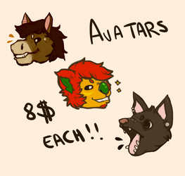 Avatar comission examples!
