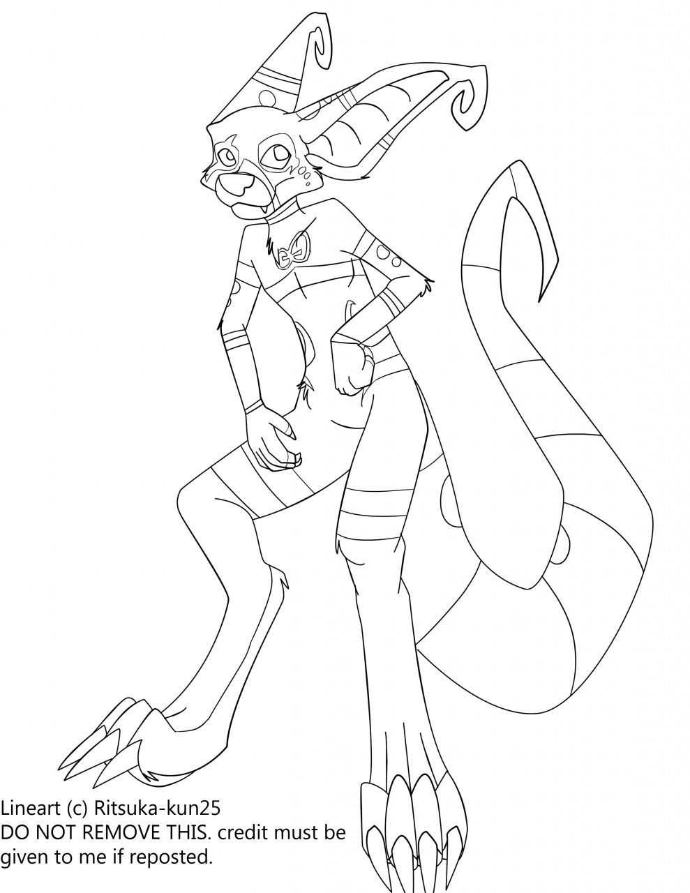 Crux lineart- with markings