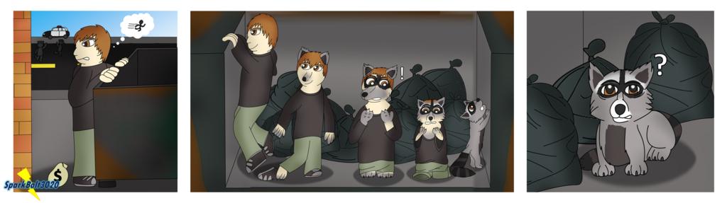 Not the Best Hiding Spot - Raccoon TF Comic