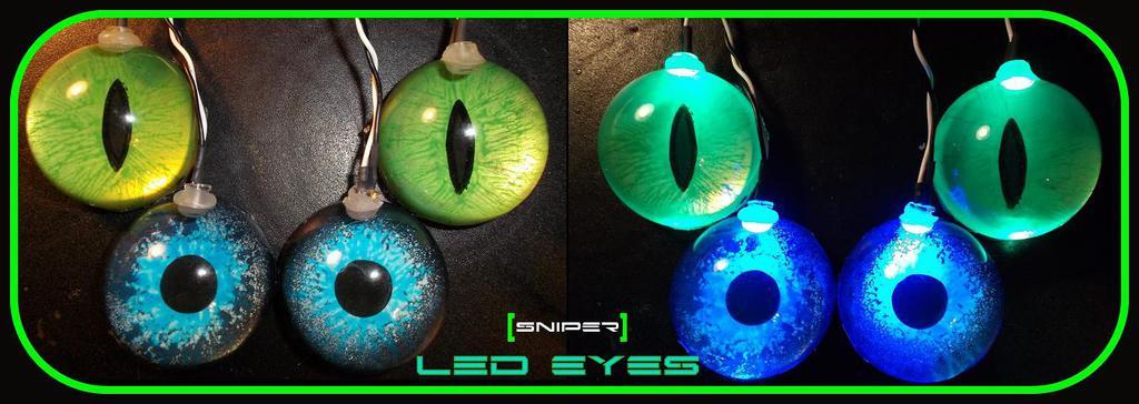 Acrylic LED eyes!