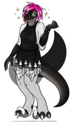 A Silvery Raptoress (2018 B-Day Gift for Rebecca)