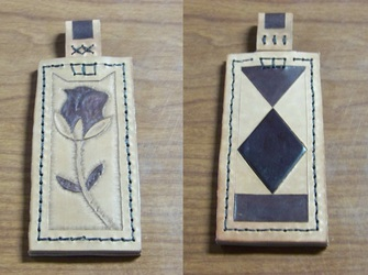 """Leather Projects - Giant Pendant - """"Finished"""""""