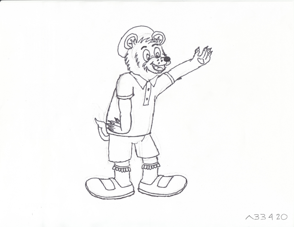Most recent image: A silly, yours truly, Al Bear pose sketch