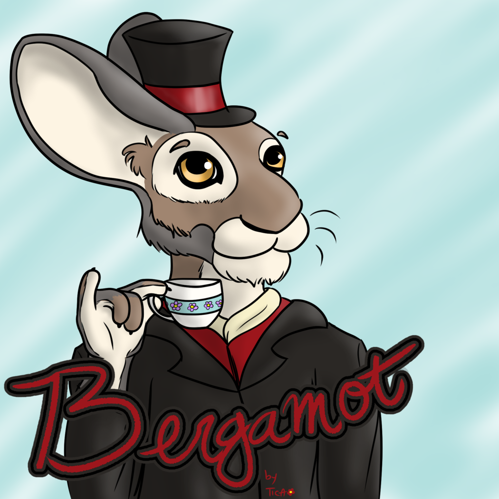 Featured image: Commission: badge for Bergamot the hare, RMFC 2014
