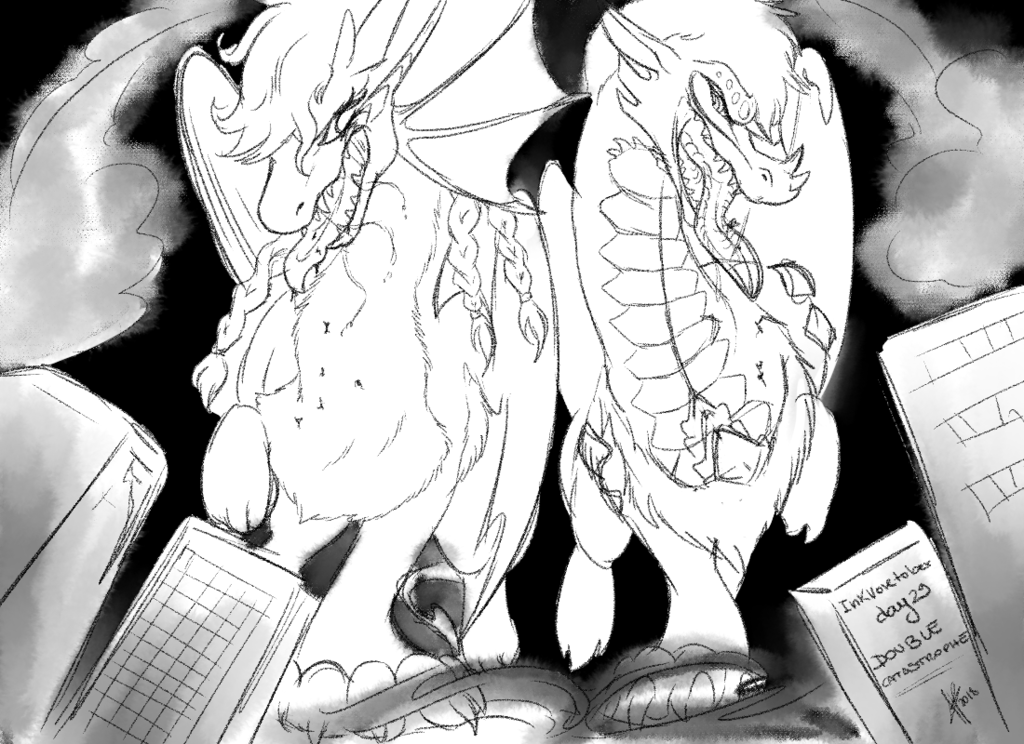 InkVoretober day 29 - Double catastrophe