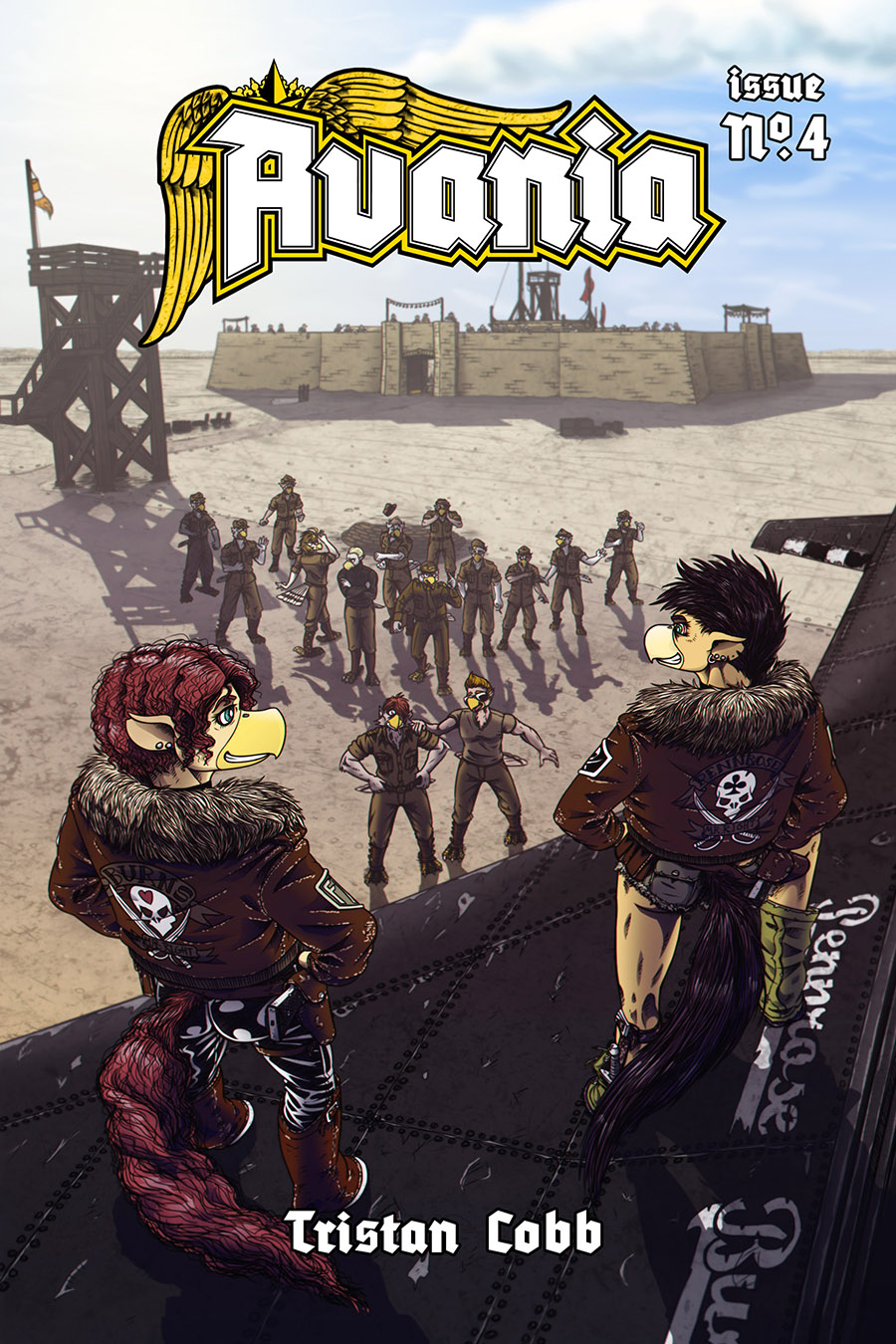 Avania Comic - Issue No.4, Front Cover