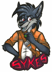 Sykes Badge (Anthrocon 2017)