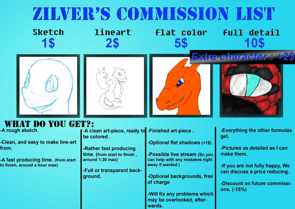 My commission list