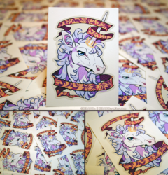 Filigree Unicorn Vinyl Stickers