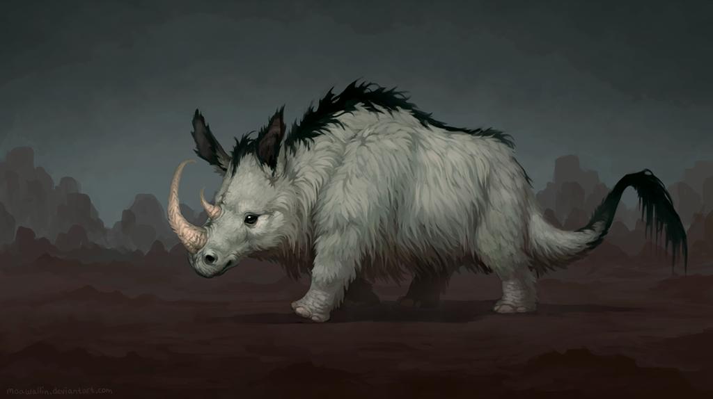 Fluffy rhino