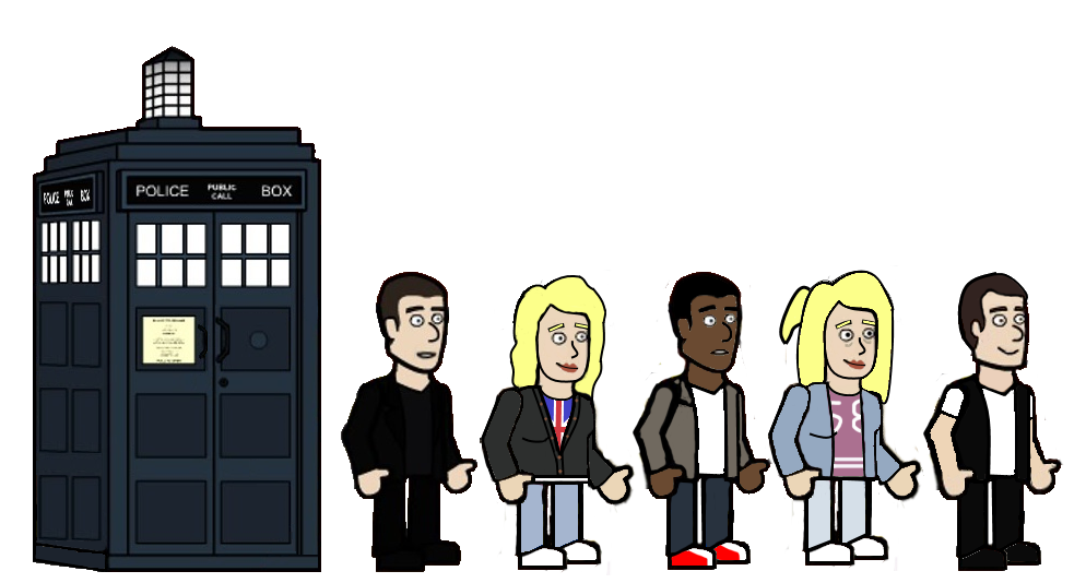 The 9th Doctor and his friends