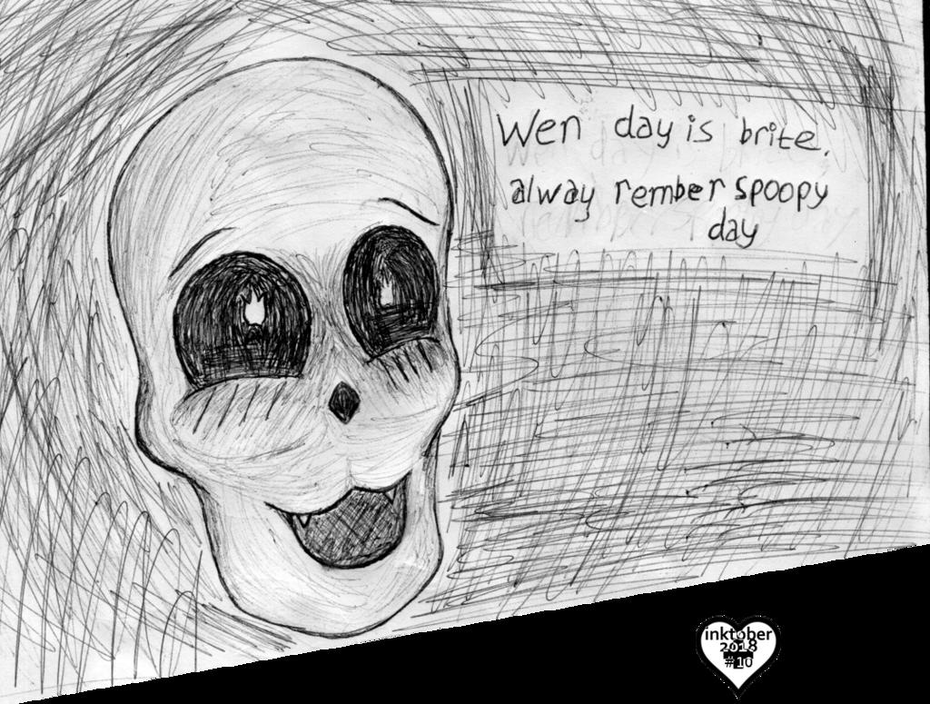 inktober #10: eat skull