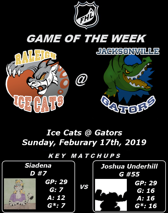 FHL Season 7 Game of the Week #12: Ice Cats @ Gators