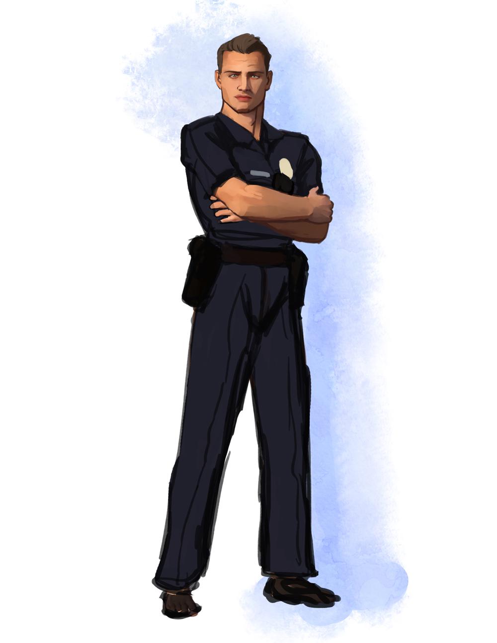 officer Damian Holt